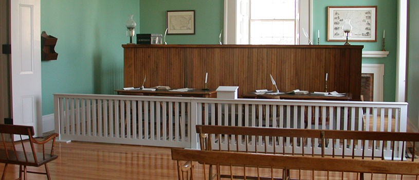 Supreme Court Chamber in Old Capitol in Iowa City