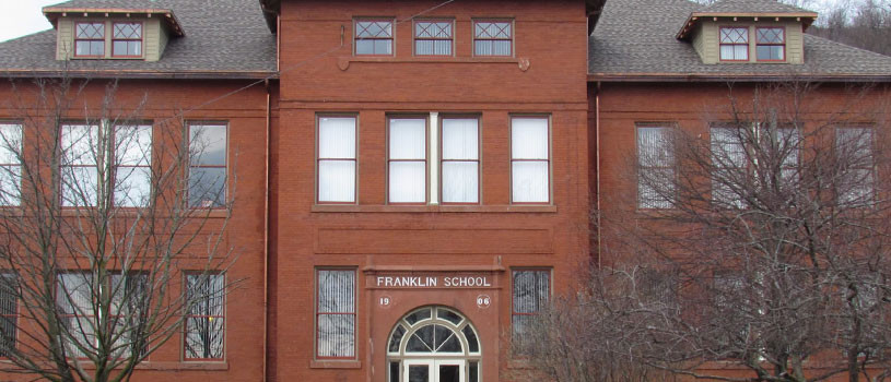 The old red brick Franklin School Building