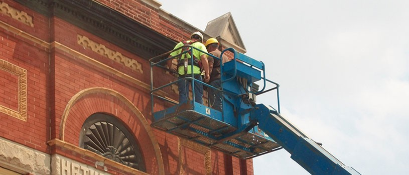 Historic preservation work on Iowa building
