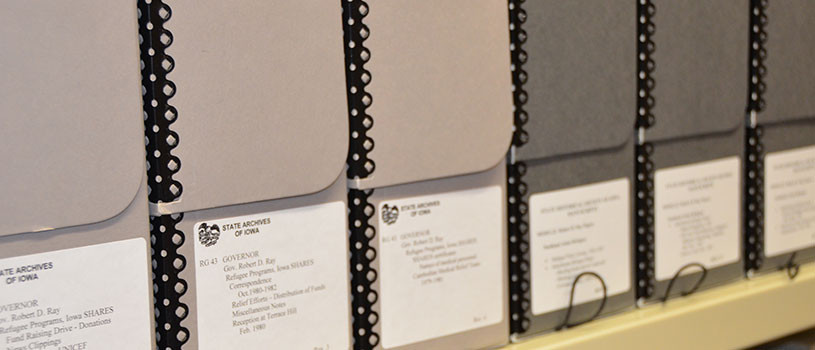 State Archive folders in a row